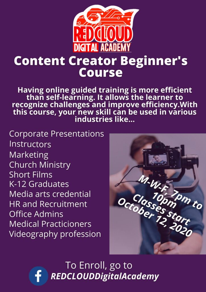 Red Cloud Digital Academy Content Creator's Beginner Course